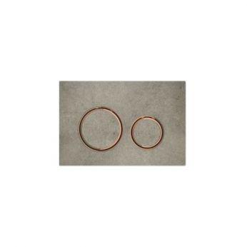 Geberit Sigma 21 Εφέ Τσιμέντου / Κόκκινο Χρυσό Πλακέτα Χειρισμού