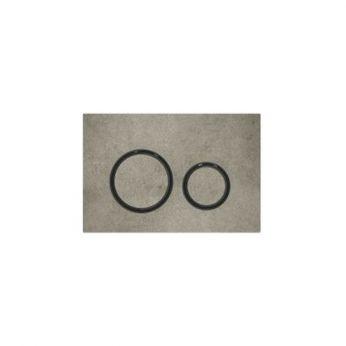 Geberit Sigma 21 Εφέ Τσιμέντου / Μαύρο Πλακέτα Χειρισμού