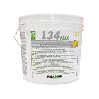 Kerakoll L34 Flex Κόλλα Παρκέ Σκούρο Χρώμα 16kg