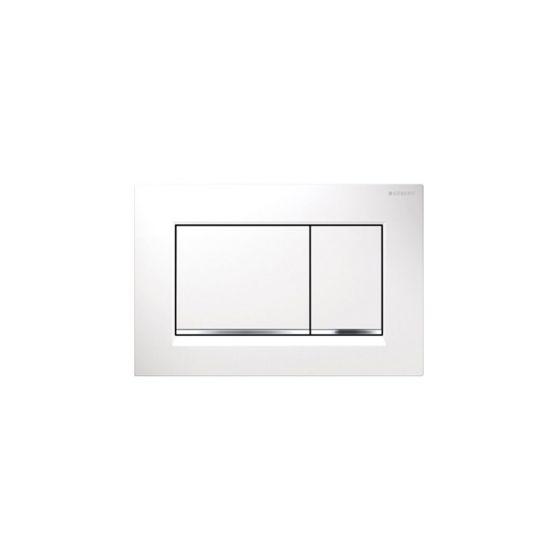 Geberit Sigma 30 Dual Flush White Matt / Chrome Πλακέτα Χειρισμού