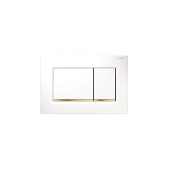 Geberit Sigma 30 Dual Flush White / Gold Πλακέτα Χειρισμού