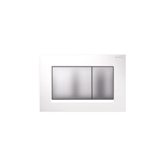 Geberit Sigma 30 Dual Flush White / Chrome Matt Πλακέτα Χειρισμού