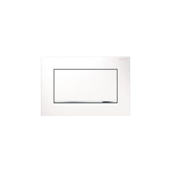 Geberit Sigma 30 Single Flush White Matt / Chrome Πλακέτα Χειρισμού