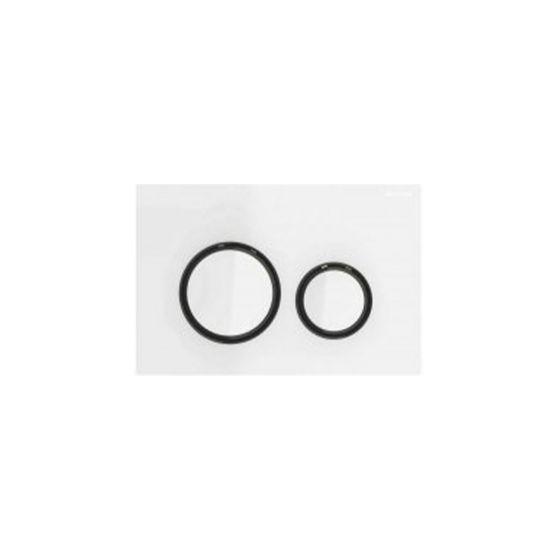 Geberit Sigma 21 Λευκό Γυαλί / Μαύρο Πλακέτα Χειρισμού